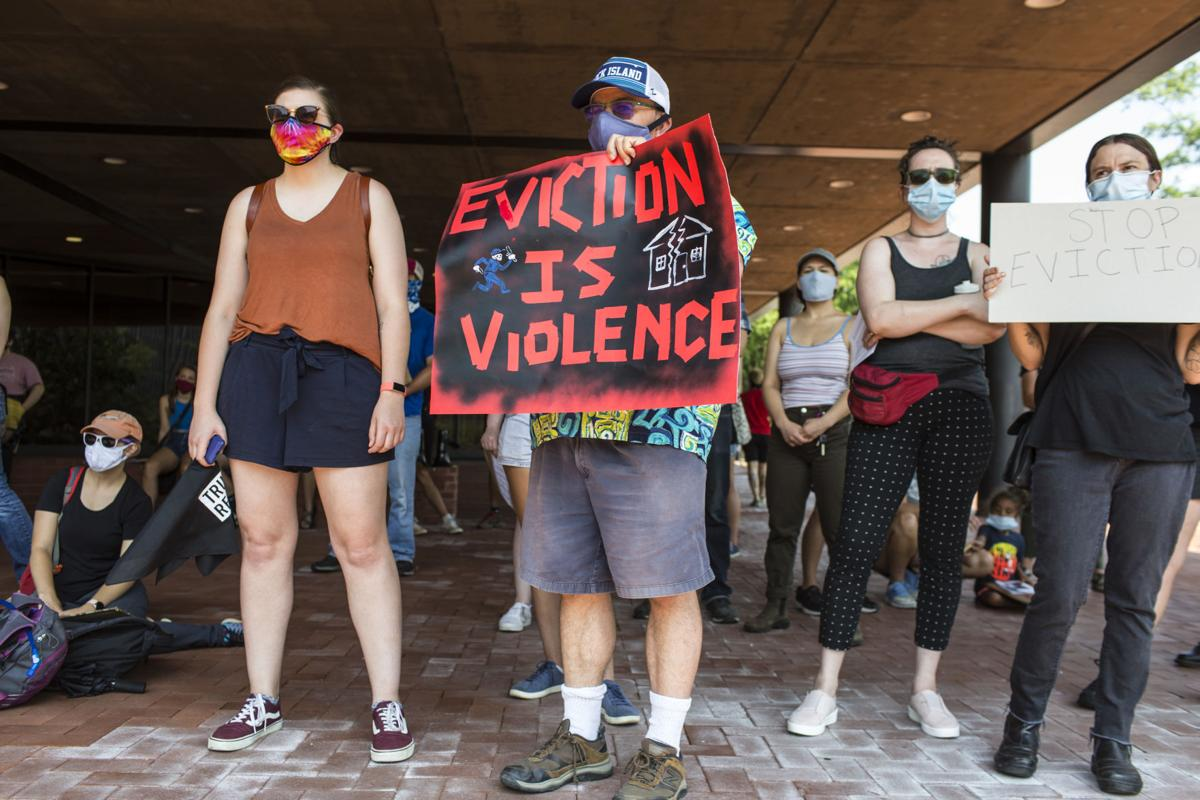 Anti-eviction protest