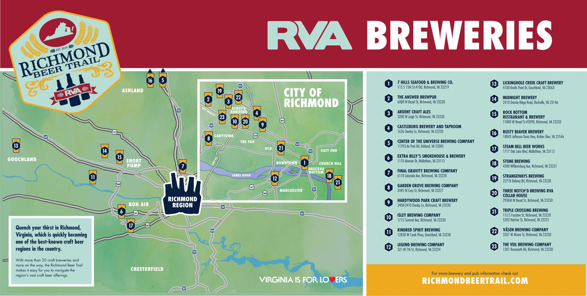 Richmond Beer Trail features 23 area breweries Entertainment