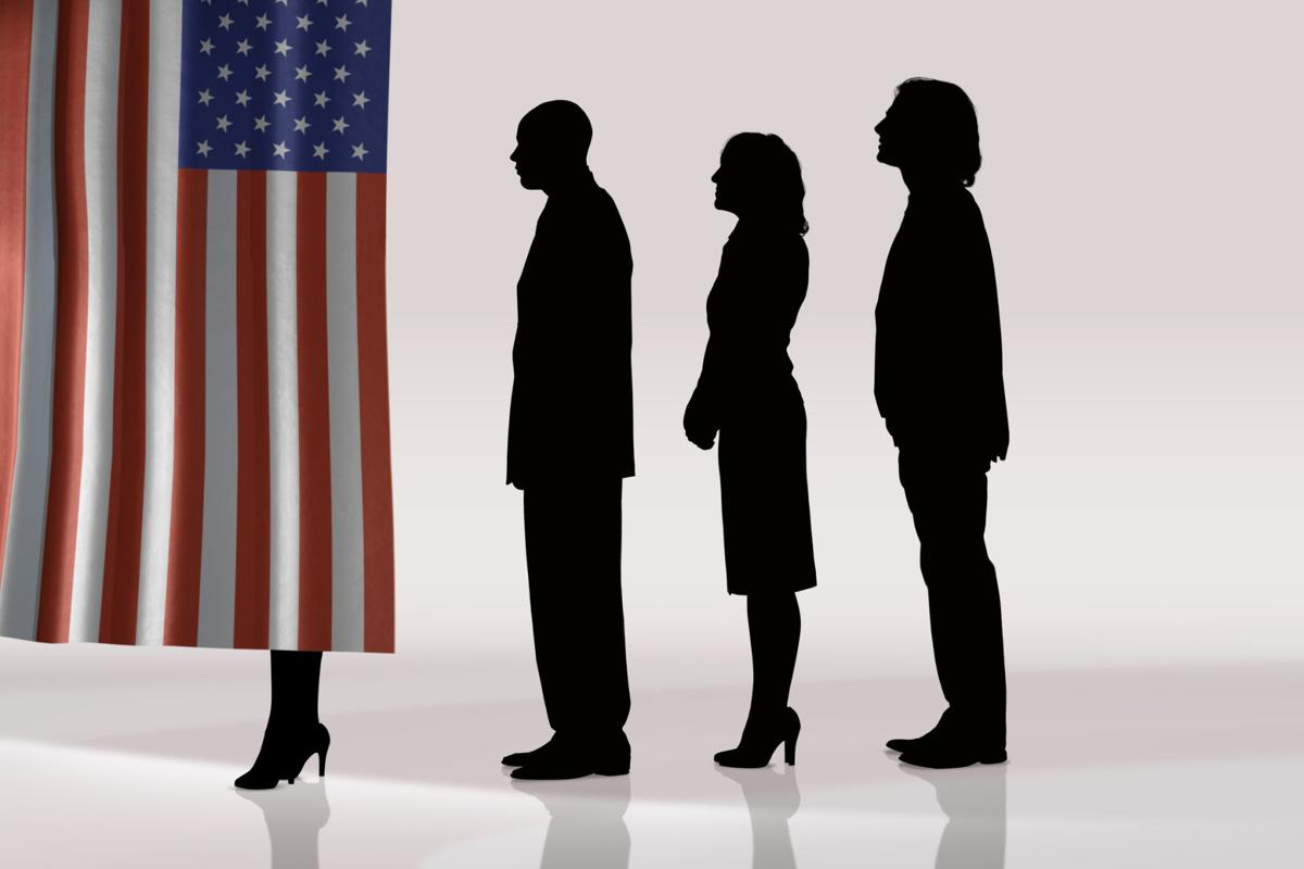 Flag voting booth