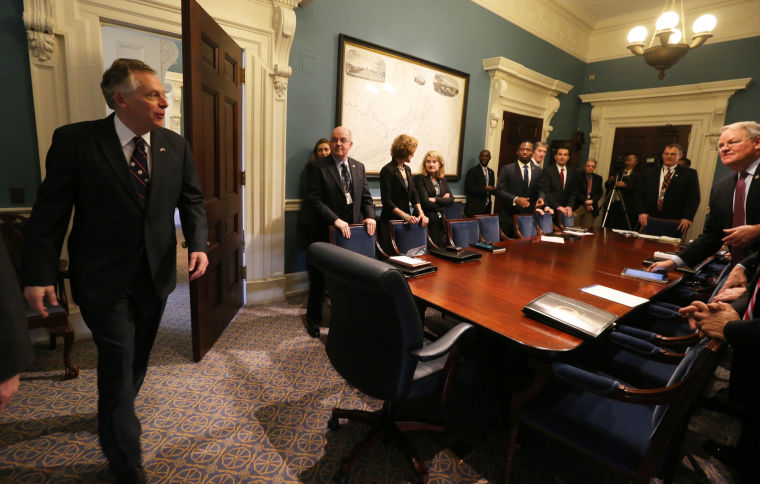 PHOTO GALLERY: Gov. McAuliffe gets down to business | News ...
