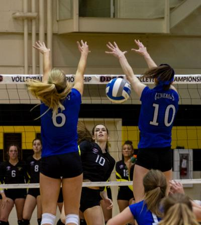 ODAC women's volleyball: Hall scores