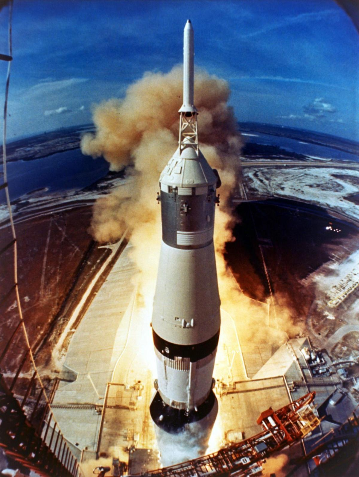 Liftoff of Apollo 11 on July 16, 1969