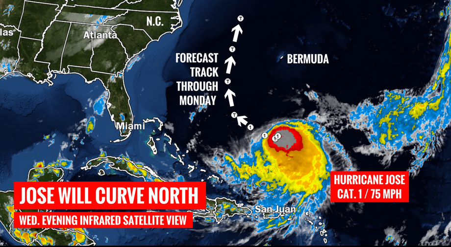 In the Atlantic ocean has formed a new deadly hurricane