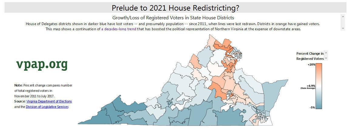 Visual Shift Of Voters In Va House Districts A Prelude To 2021