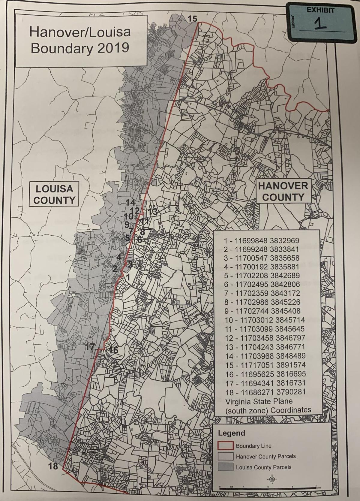 Proposed Hanover-Louisa Boundary Adjustment
