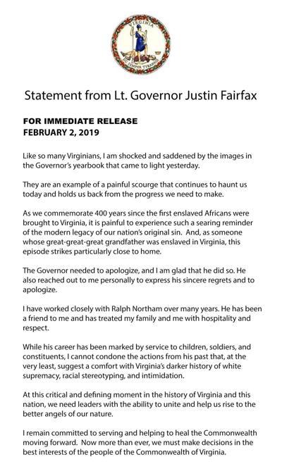 Fairfax statement