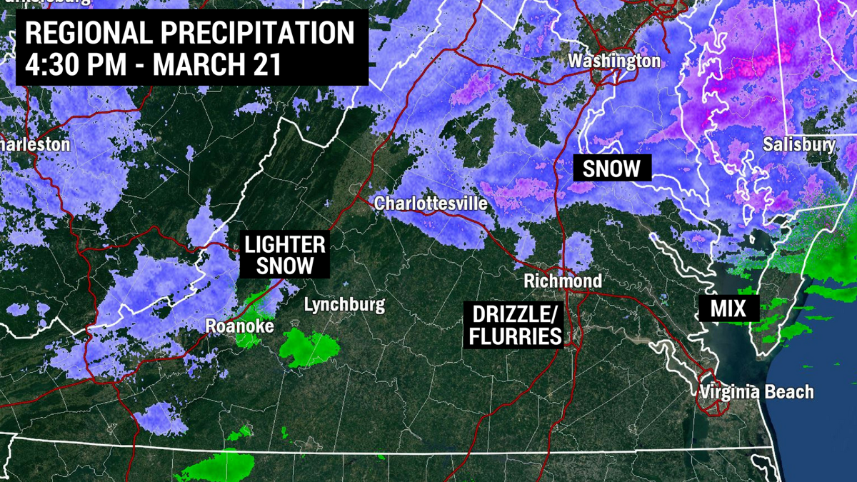 Evening Update Flurries Possible In Central Va Until Midnight But