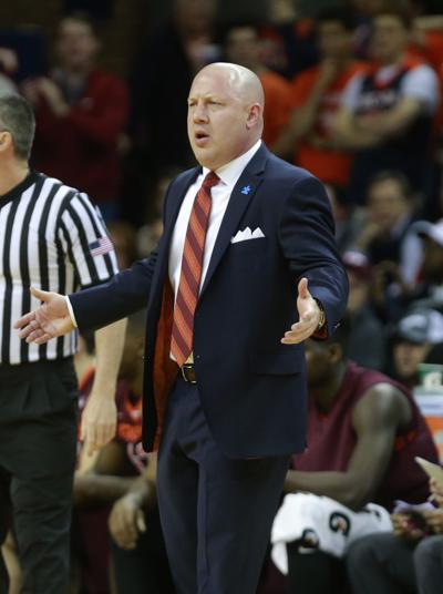 Virginia Tech at Virginia men's basketball game