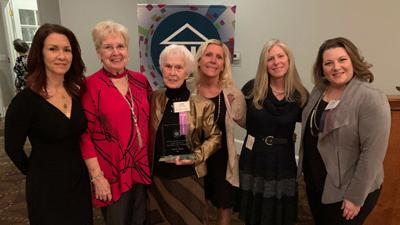 Powhatan Chamber of Commerce presents Janie Dean with Kathy Budner Award