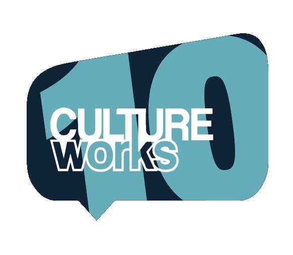 CultureWorks 10th Anniversary Logo