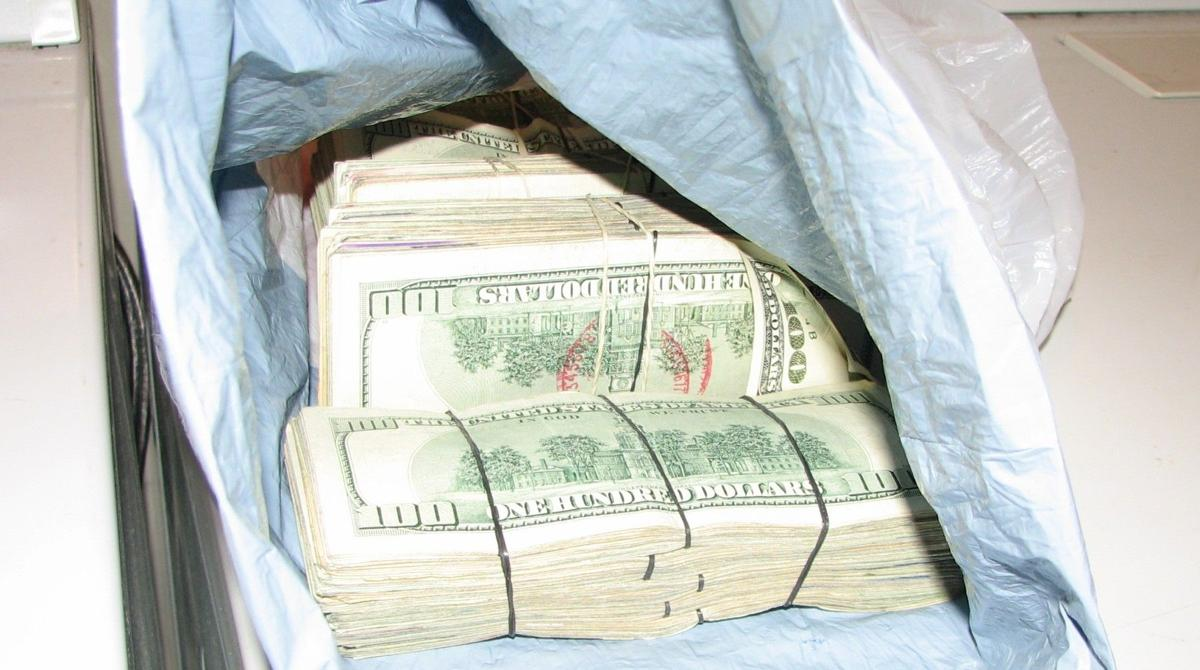 Chesterfield police seized these bundles of cash from a cocaine dealer in 2009