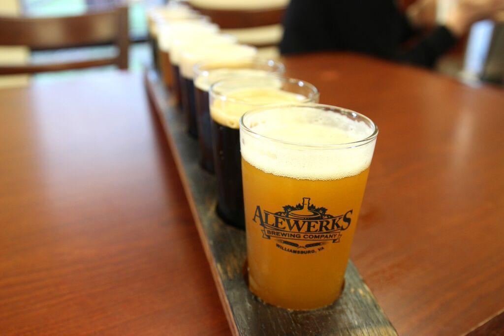 Alewerks beer tasting