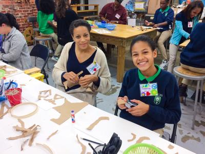 A year of mentorship and art for middle school girls