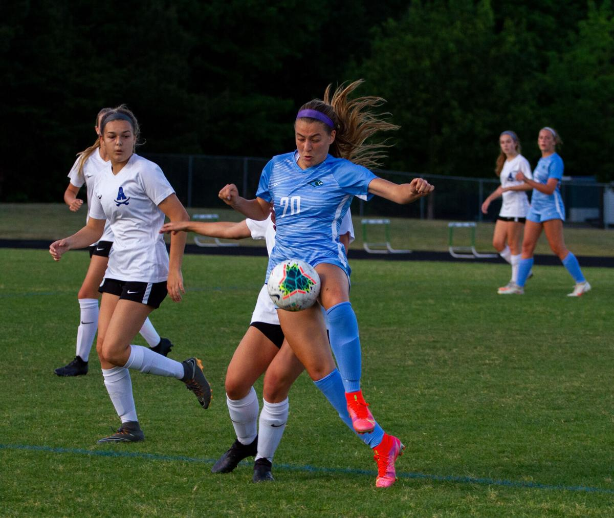 Atlee at Hanover girls soccer: Gajarsky-Prado gets the ball