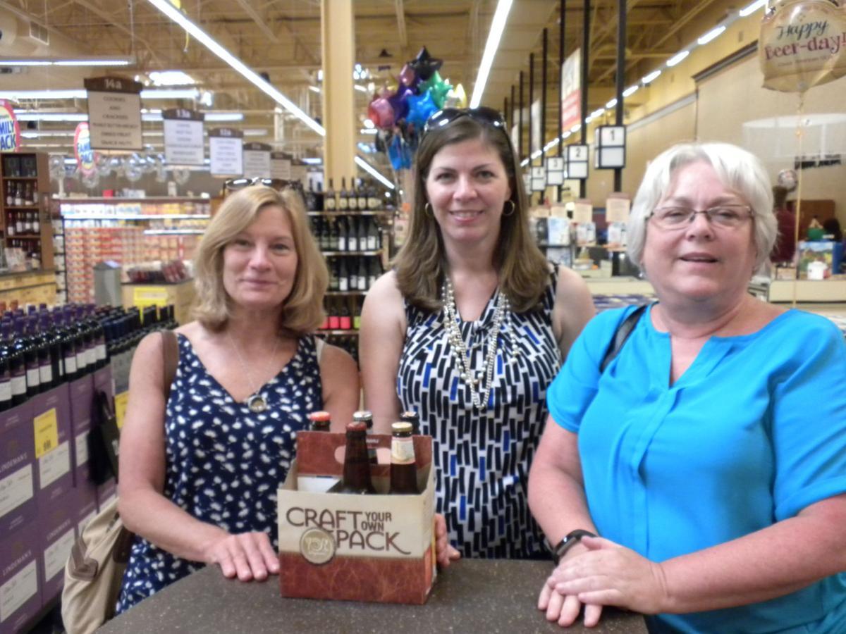 Beer enthusiasts Jane Grinnan, Beth Stinnett and Kathy Jones
