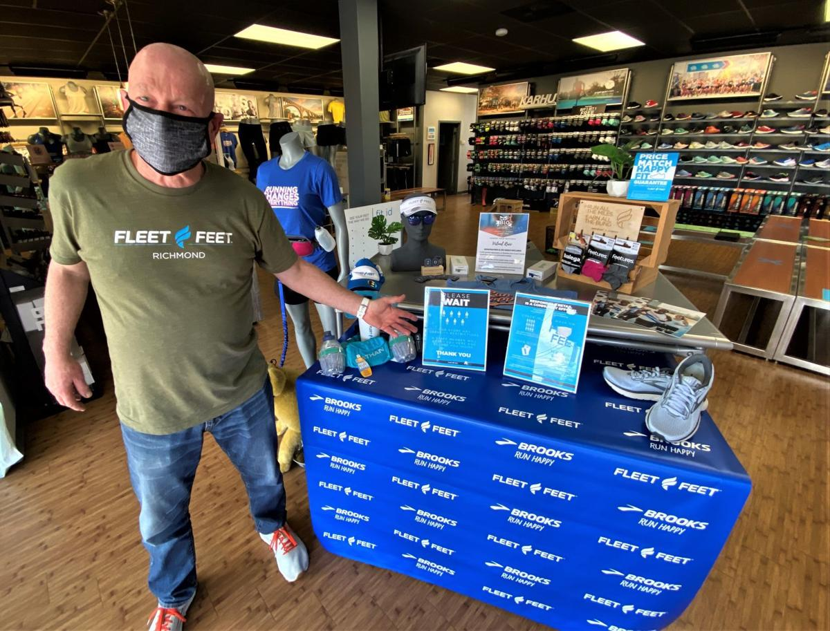 Jeff Wells, owner of the two Fleet Feet Richmond stores