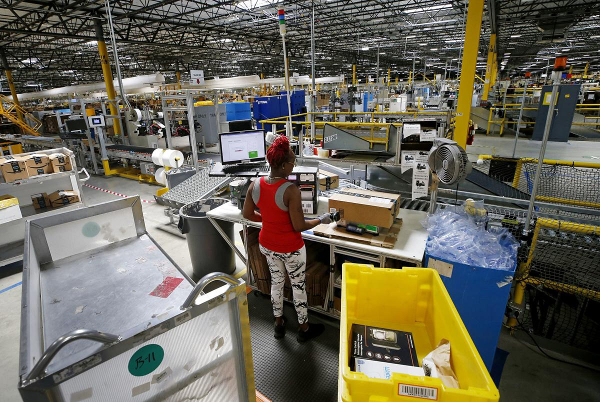 A look inside Amazon's warehouse in Chesterfield where hundreds of