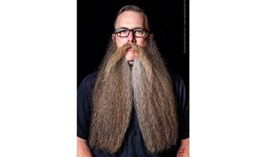Patrick Quinn competes in world beard championship