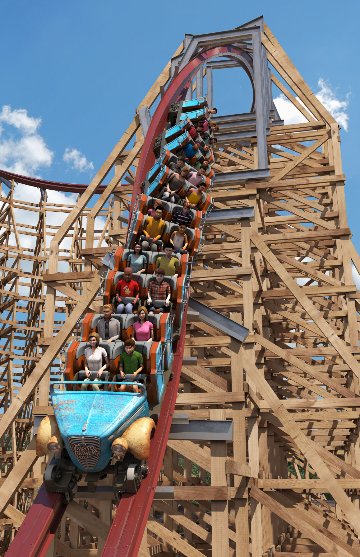 New wood and steel roller coaster plus winter holiday event coming ...