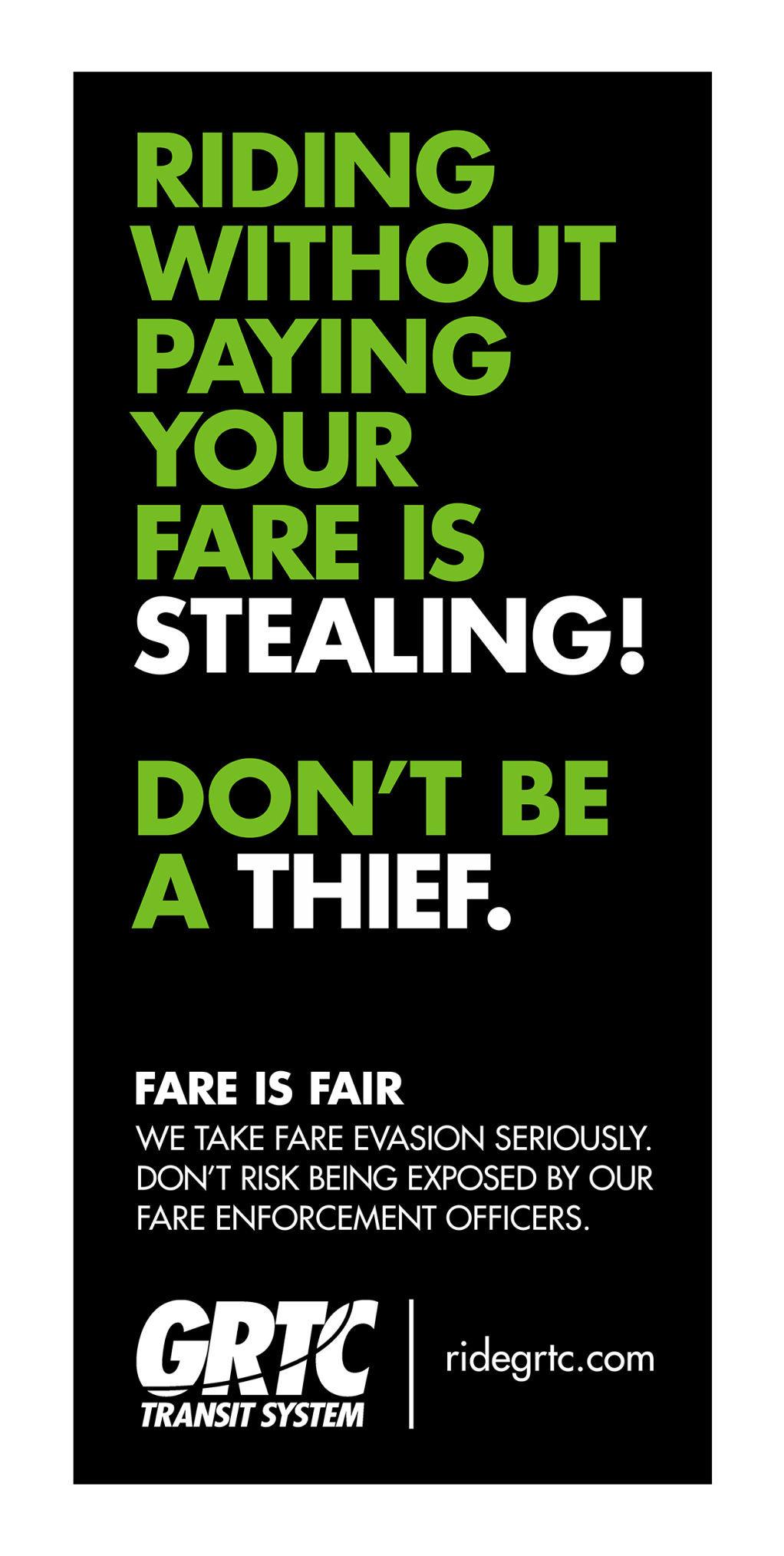 """Anti-fare evasion """"stealing"""" message (draft)"""