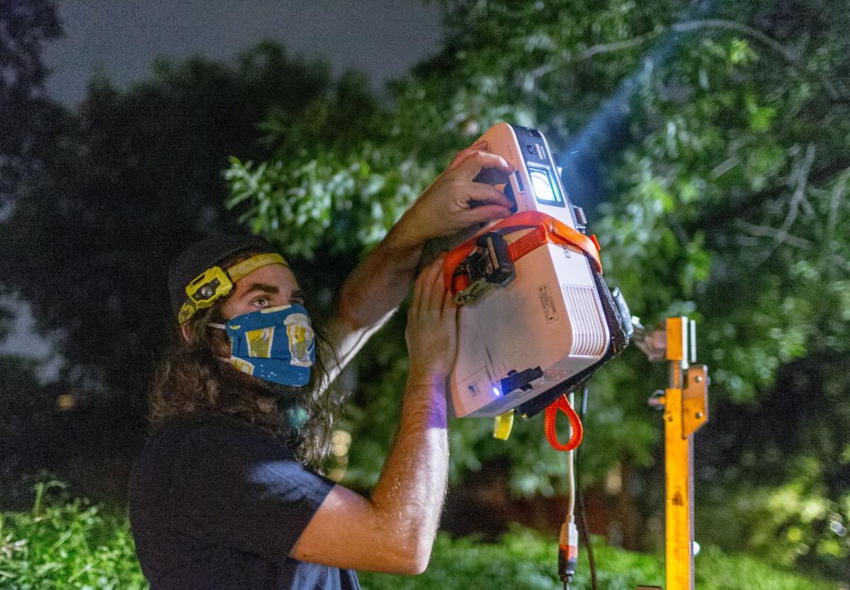 Dustin Klein, projectionist