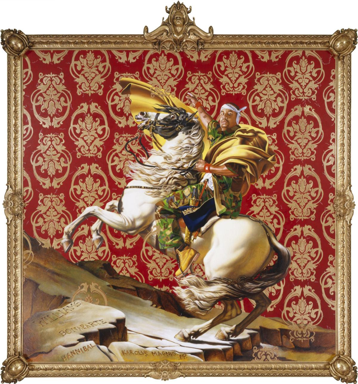 'Napoleon Leading the Army over the Alps' by Kehinde Wiley