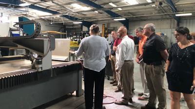 Powhatan High School CTE teachers tour local businesses