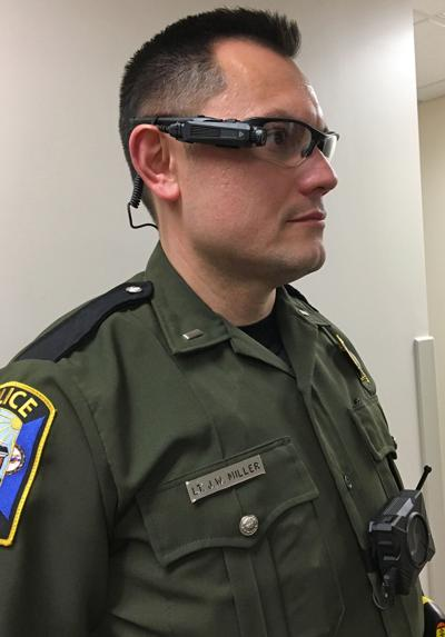 Chesterfield officer with camera attached to glasses