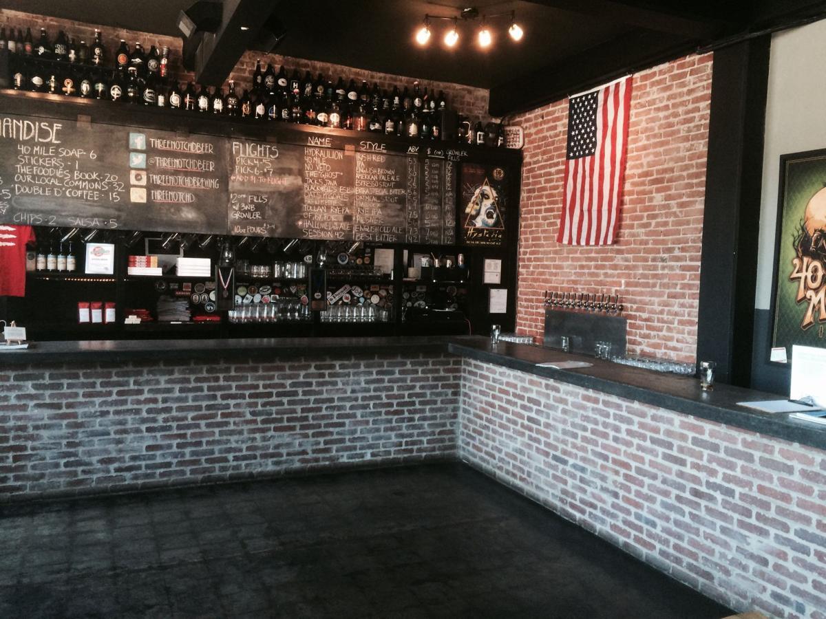 Three Notch'd Brewery tasting room