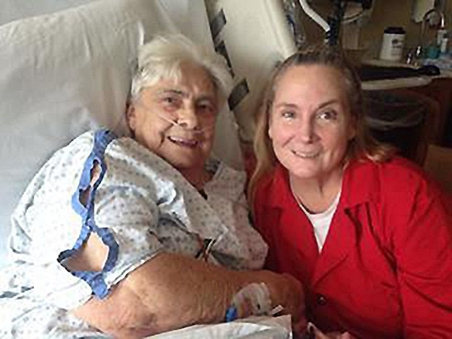 Jailed daughter visits with dying mother