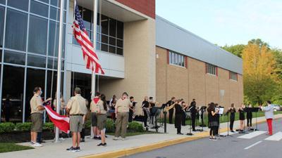 Powhatan Middle School commemorates Patriot Day