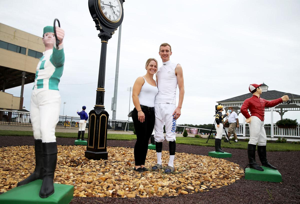 Katie Davis and Trevor McCarthy, jockeys