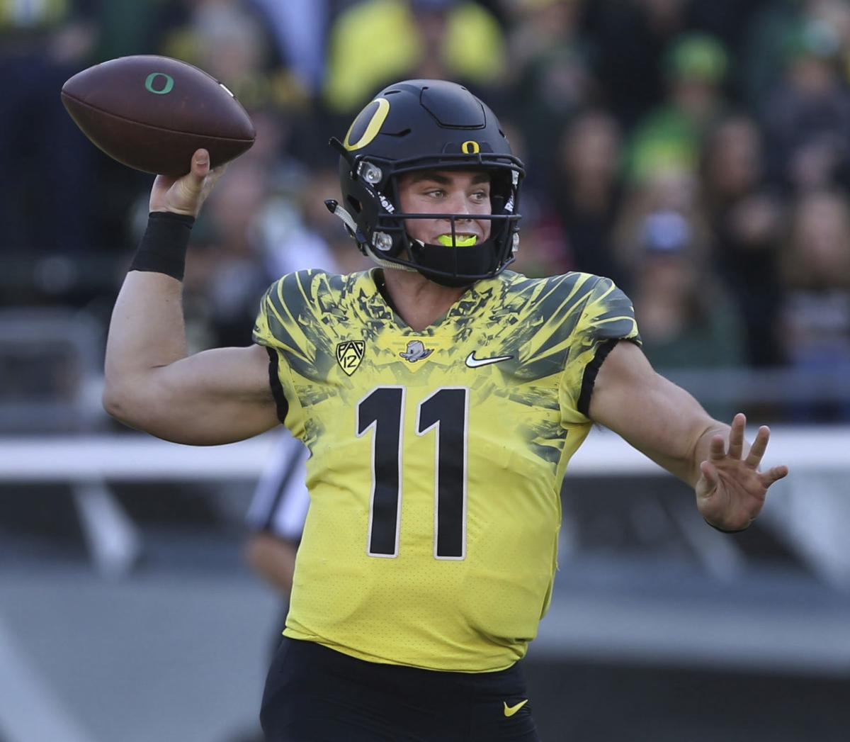 Oregon Transfer Braxton Burmeister Will Join Virginia Tech S Quarterback Group Eventually Virginia Tech Richmond Com