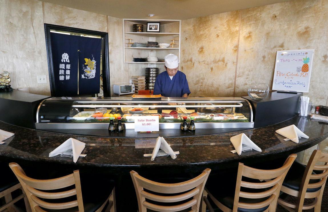 Sushi chef Henry Wang at Kyoto Japanese Steak House & Sushi Bar