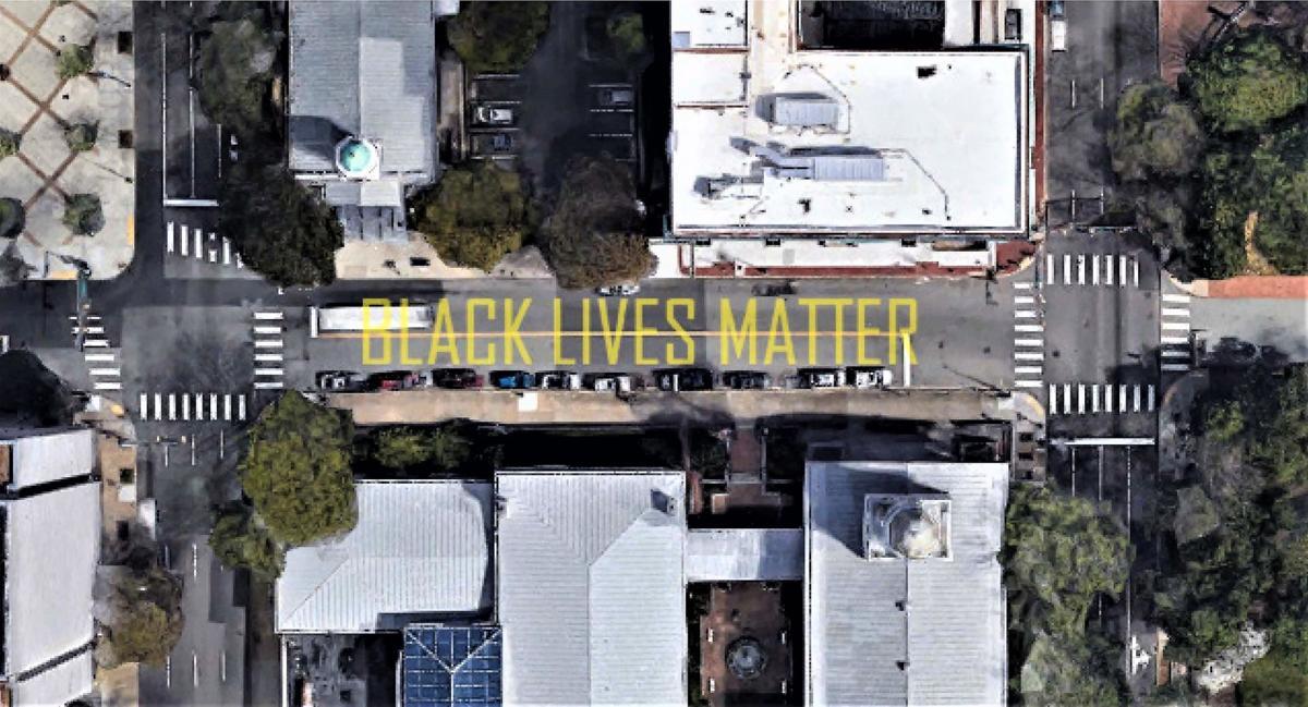 Black Lives Matter street mural (Richmond)