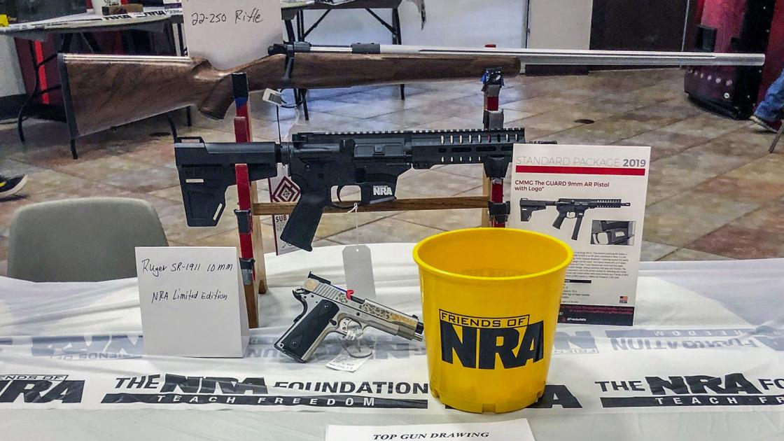 NRA group sees backlash over gun auctions in schools