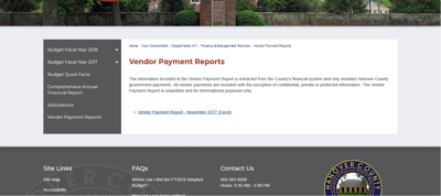 hanover creates online checkbook to improve transparency hanover