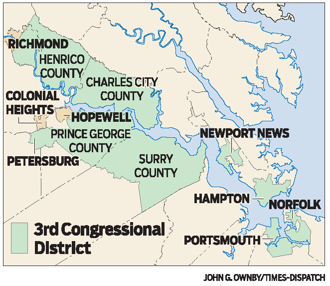 Judges Impose New Va Congressional Map Redrawing Rd Th - Va map