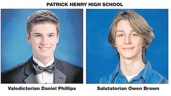 Phillips and Brown take top  honors for PHHS graduates