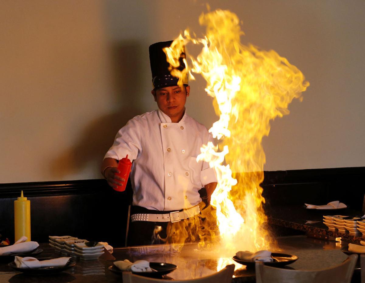 Hibachi chef Ray Mailuhu