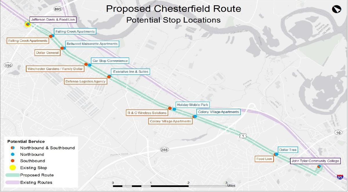 Proposed Chesterfield Route