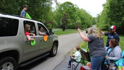 Powhatan boy receives surprise 10th birthday drive-by party