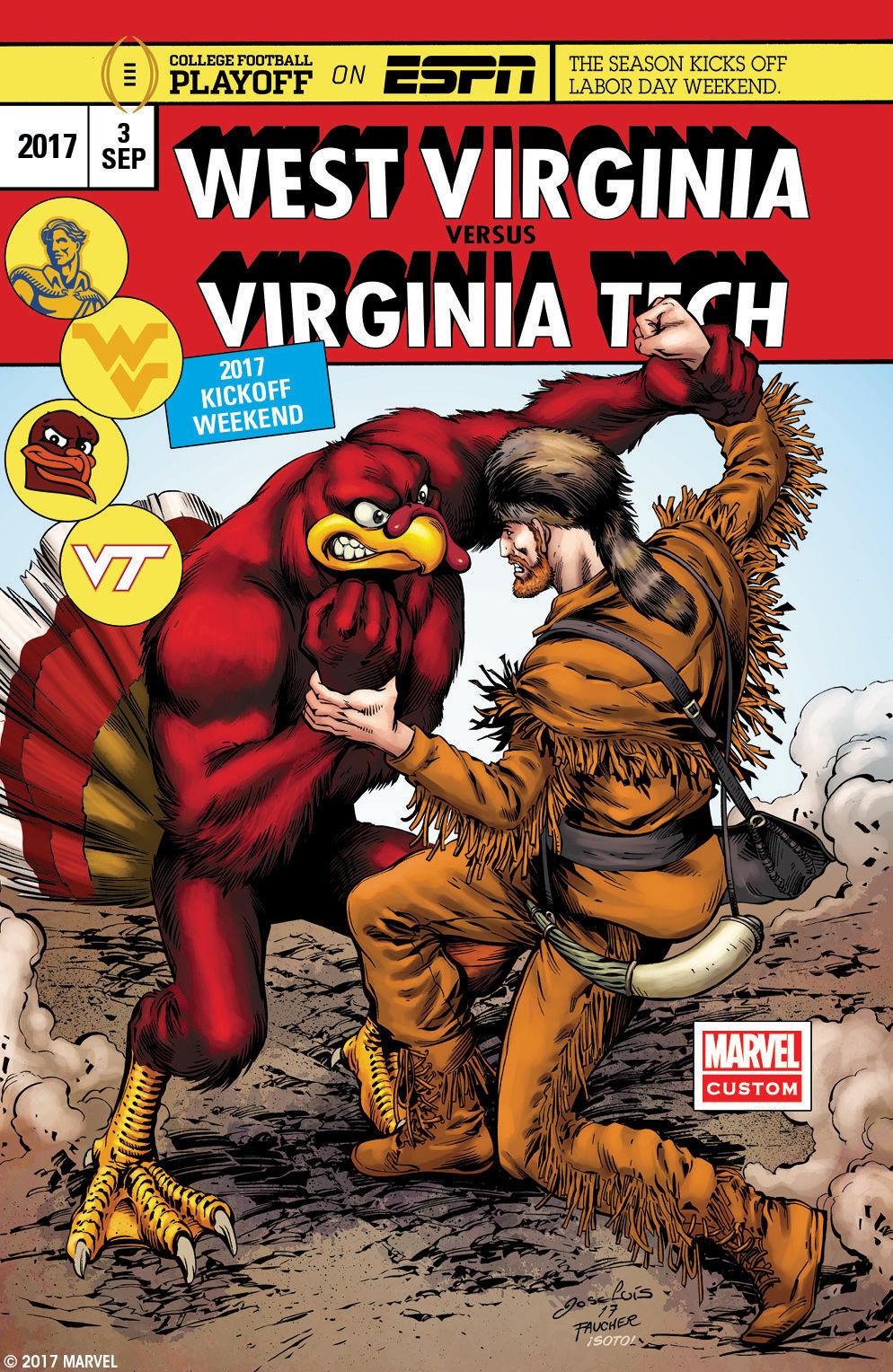 Comic Book Cover Artist Jobs ~ Marvel comic book artist draws cover for hokies