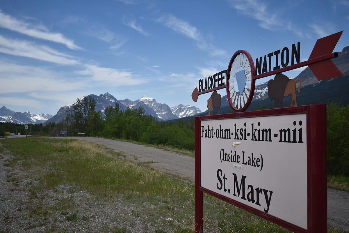 The St. Mary entrance to Glacier National Park, which borders the Blackfeet Nation, remained closed during the summer of 2020 as Blackfeet officials implemented strict measures in an effort to keep covid-19 off the reservation.