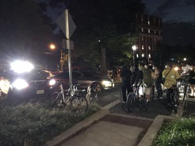 Police vehicle strikes protesters