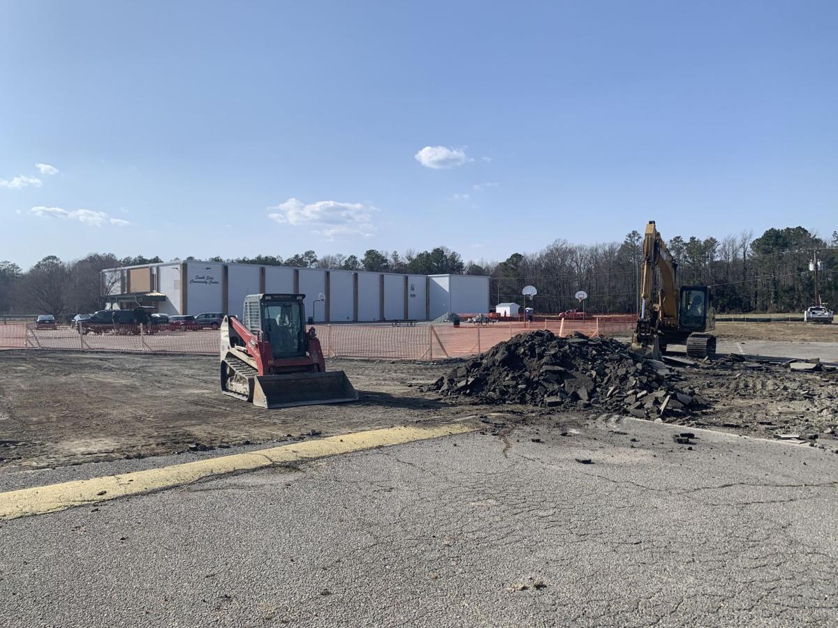 Southside Community Center construction