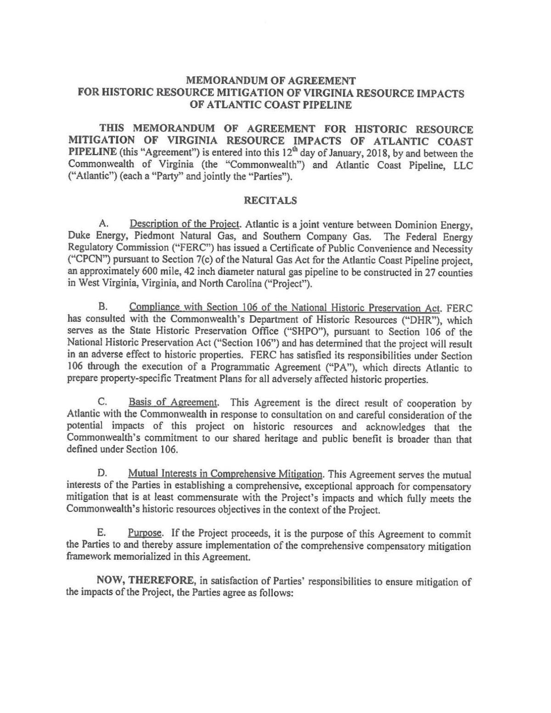 Virginia Acp Historic Resources Agreementpdf Richmond