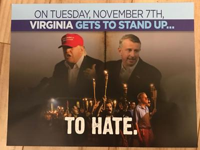 Virginia Democrats' mailer on Trump, Gillespie, Charlottesville