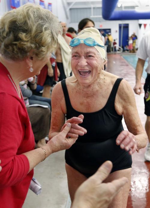 Even at 100, still making a splash