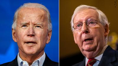 Biden dismisses McConnell's pledge to focus 'on stopping this new administration'